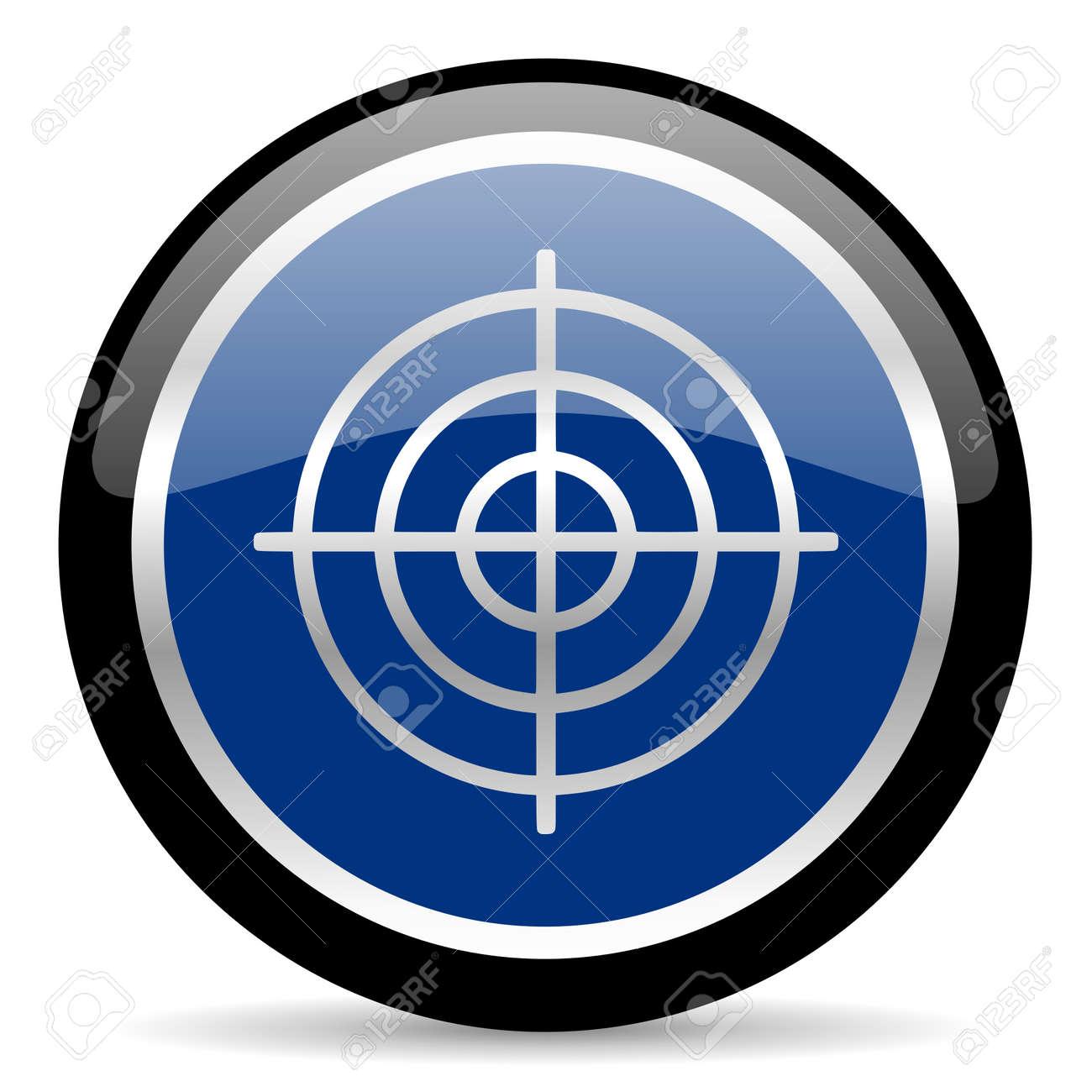 blue web button Stock Photo - 26087883
