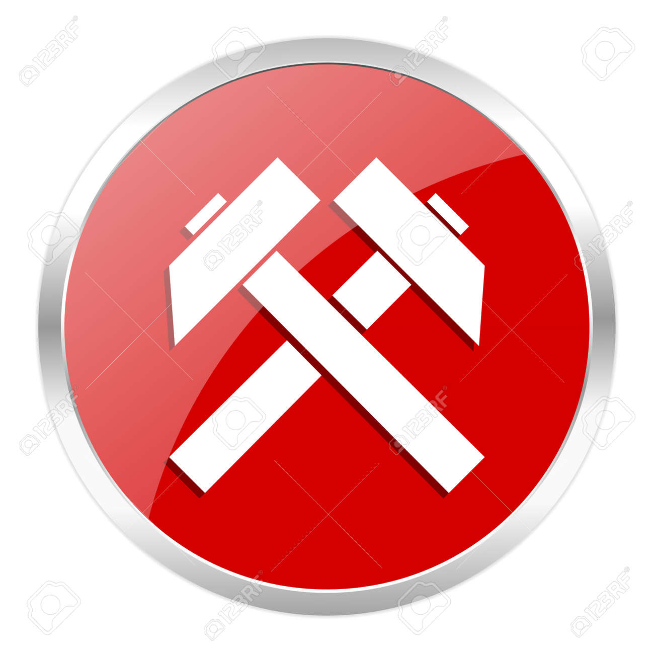 red web button isolated Stock Photo - 27369055