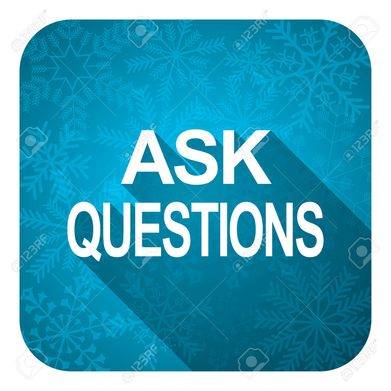 Christmas Questions To Ask.Ask Questions Flat Icon Christmas Button