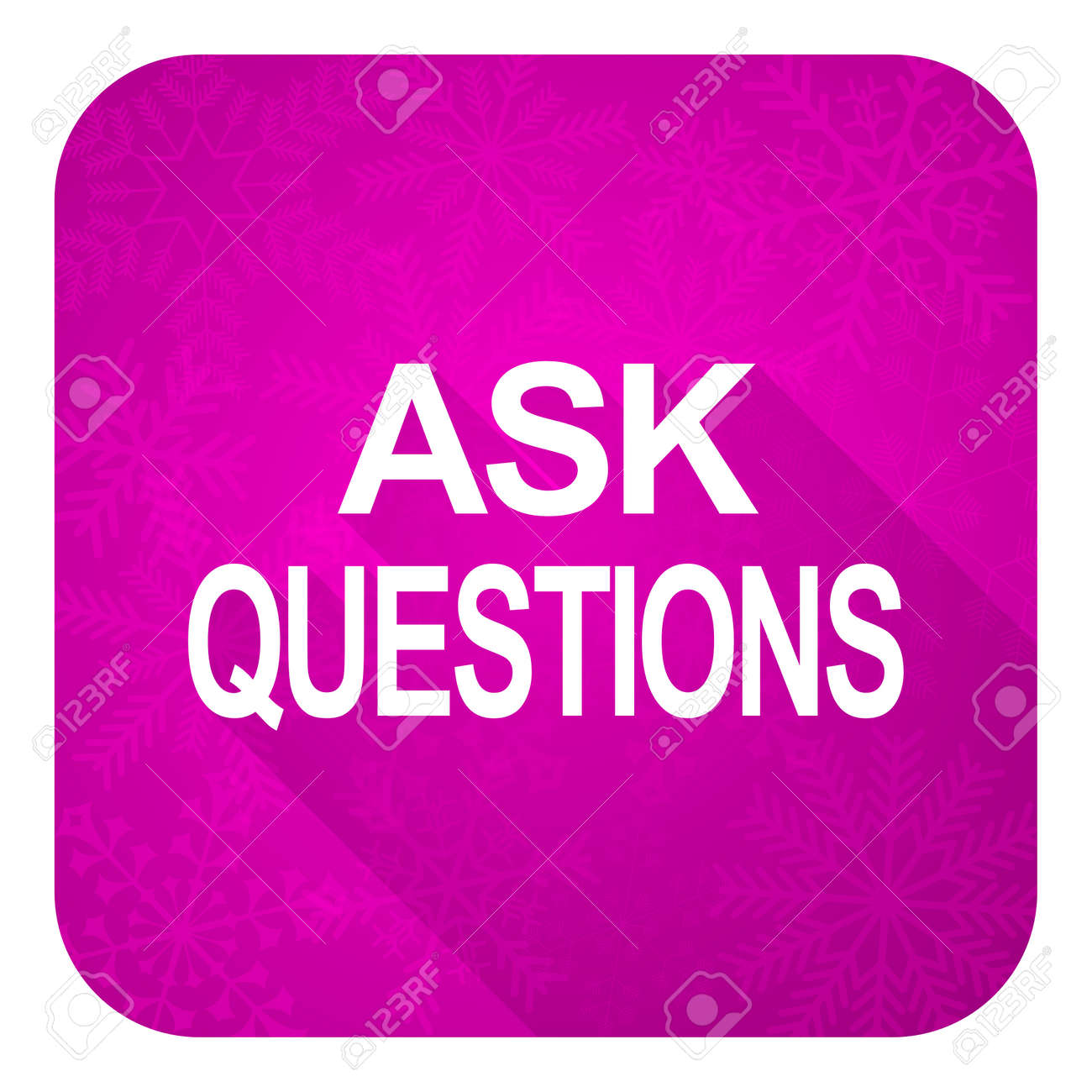Christmas Questions To Ask.Ask Questions Violet Flat Icon Christmas Button