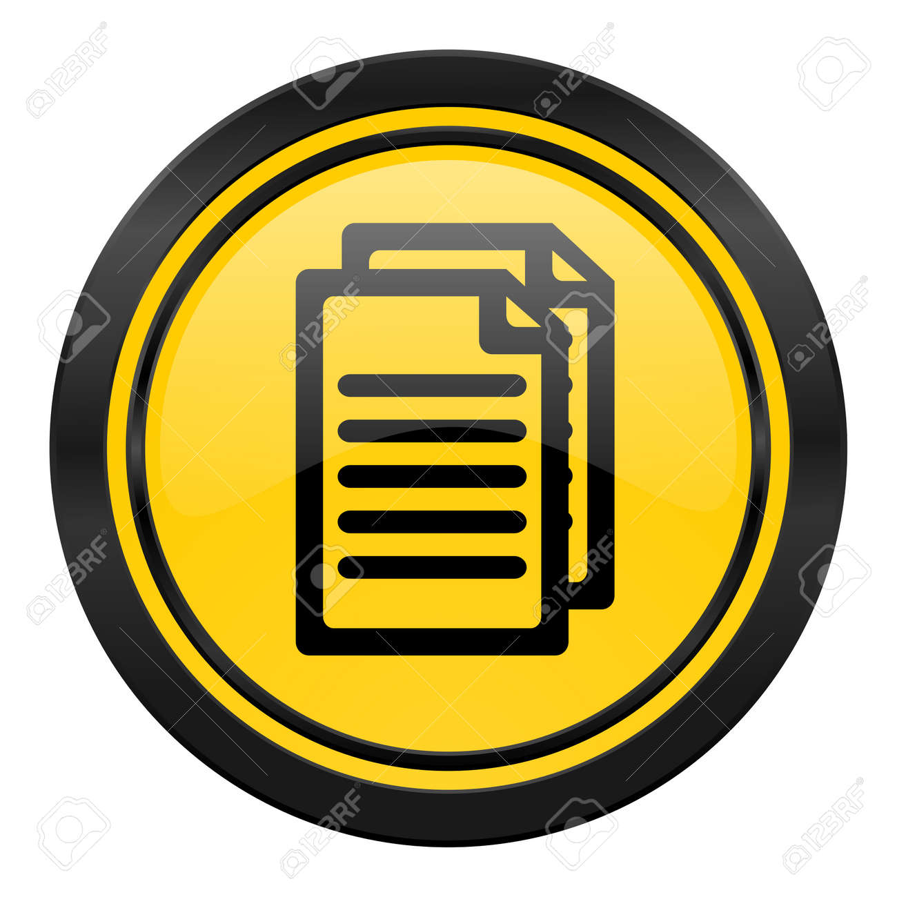 Document Icon Yellow Pages Sign Stock Photo Picture And Royalty