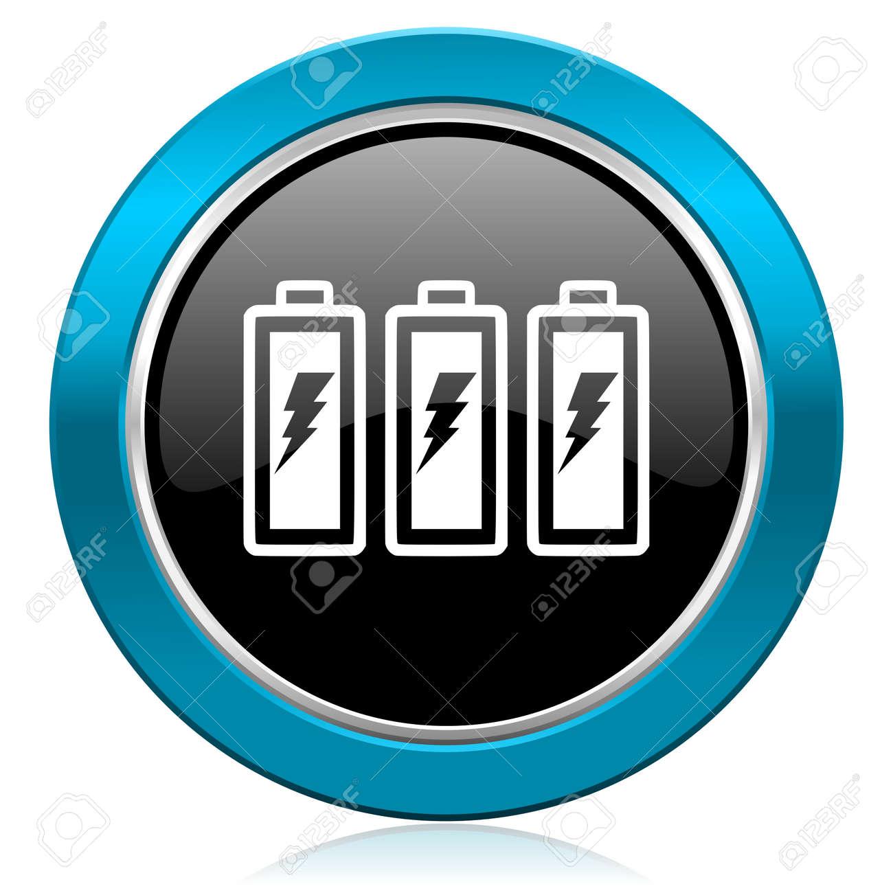 Batterie Glänzend Symbol Strom Zeichen Lizenzfreie Fotos, Bilder Und ...