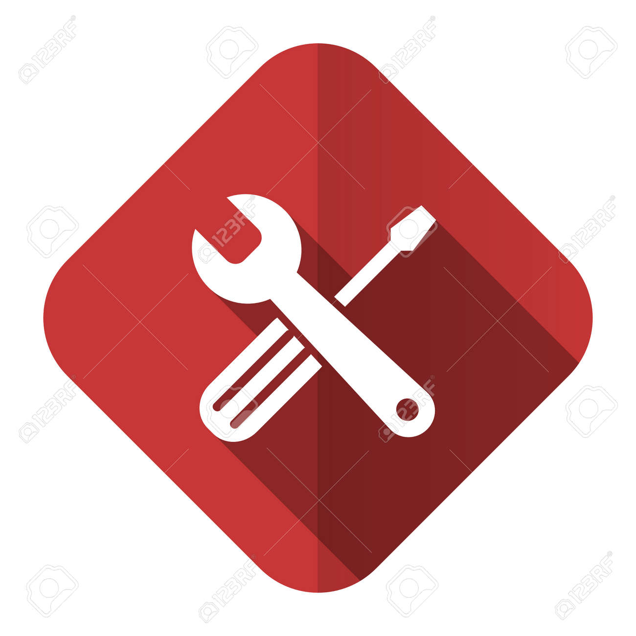 Tools Flat Icon Service Sign Stock Photo, Picture And Royalty Free ...
