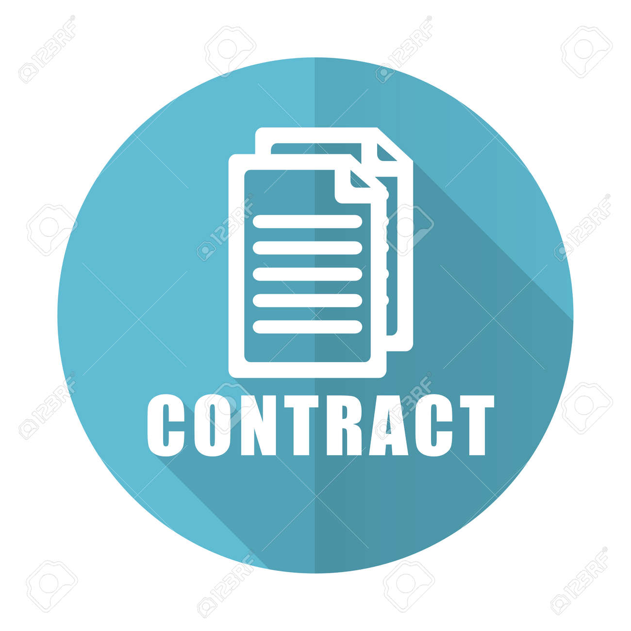 contract blue flat icon stock photo picture and royalty free image