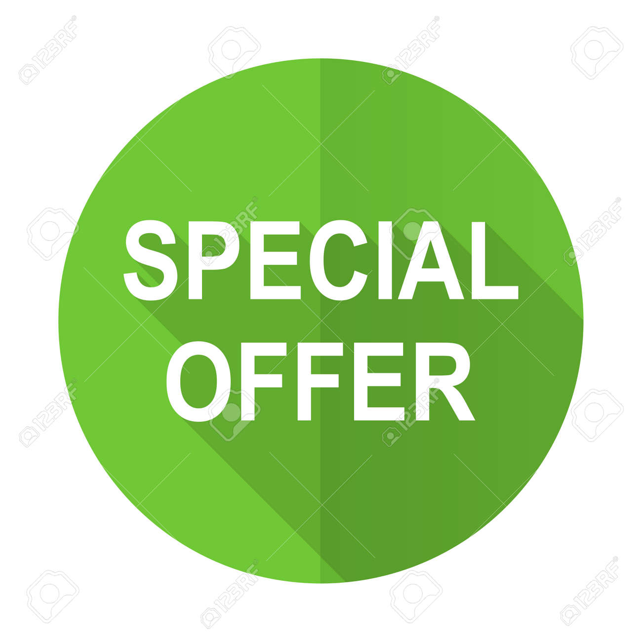 Special Offer Green Flat Icon Stock Photo Picture And Royalty Free Image Image 38144101
