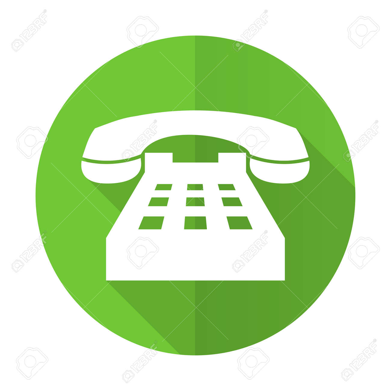 Telefon Grünen Flach Symbol Telefon Zeichen Lizenzfreie Fotos, Bilder Und  Stock Fotografie. Image 38144466.