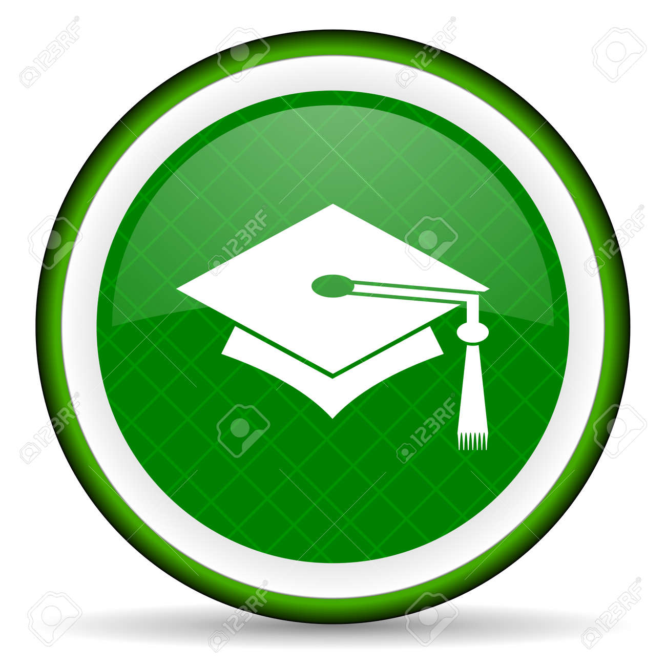 education green icon graduation sign stock photo picture and