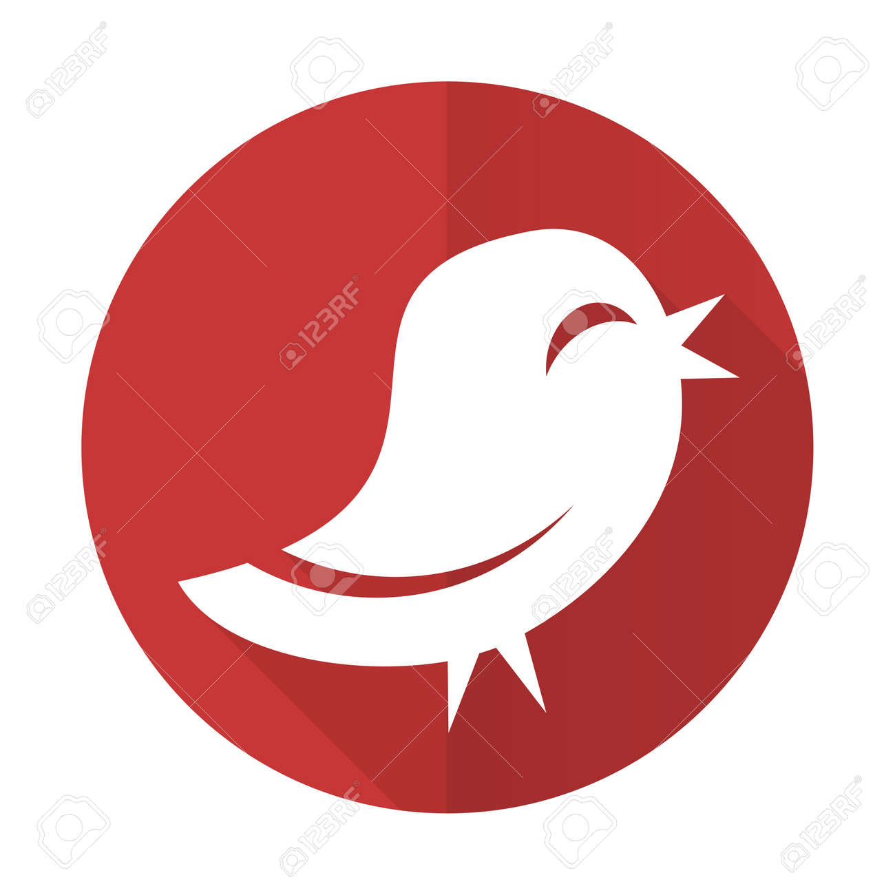 Red Bird Flat Icon Stock Photo Picture And Royalty Free Image