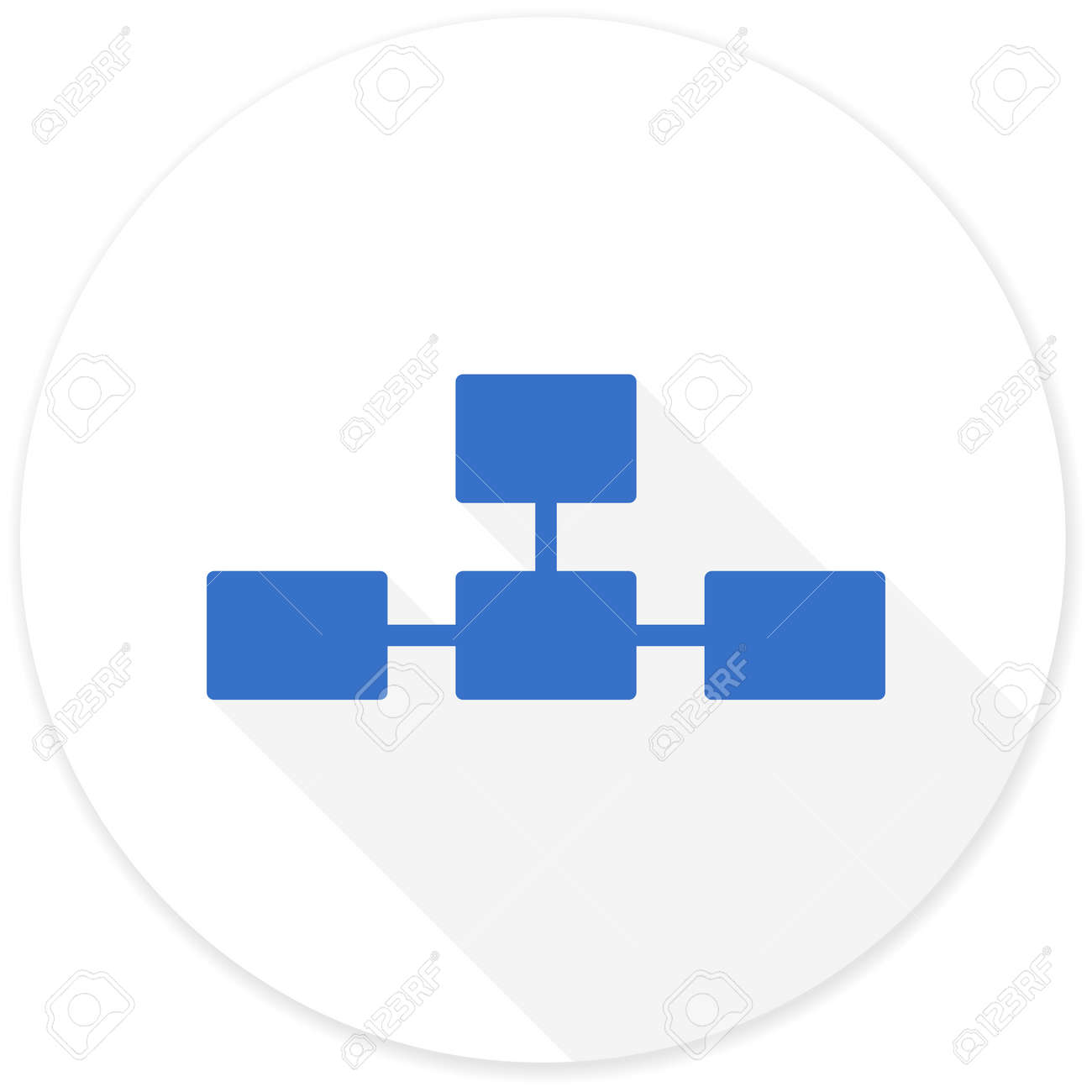 database flat design modern icon with long shadow for web and