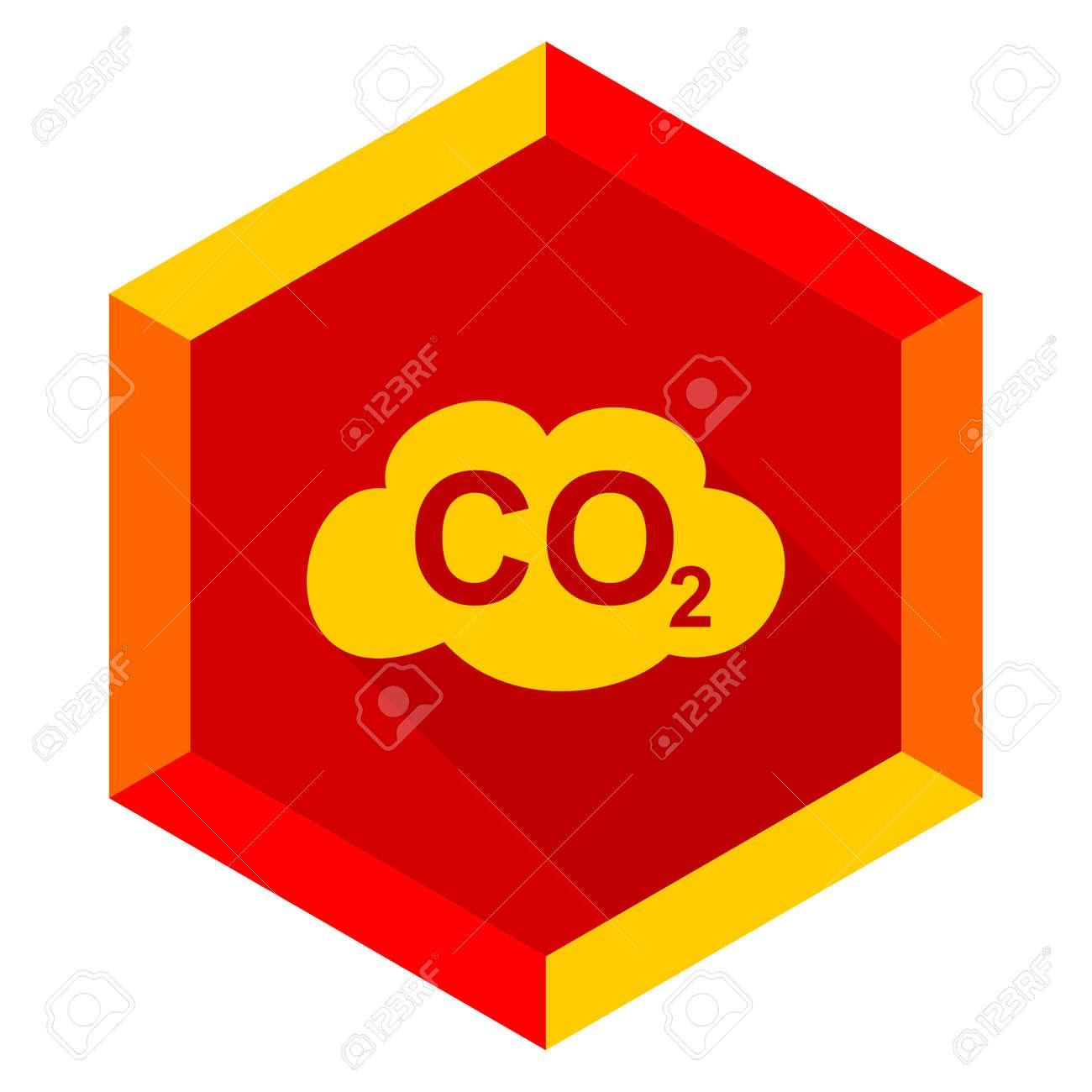 Carbon dioxide flat design modern icon with long shadow for web carbon dioxide flat design modern icon with long shadow for web and mobile app stock photo buycottarizona Images