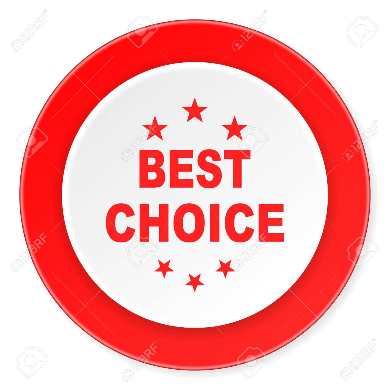 Beste Wahl Roter Kreis 3d Modernes Design Flache Symbol Auf Weißem ...