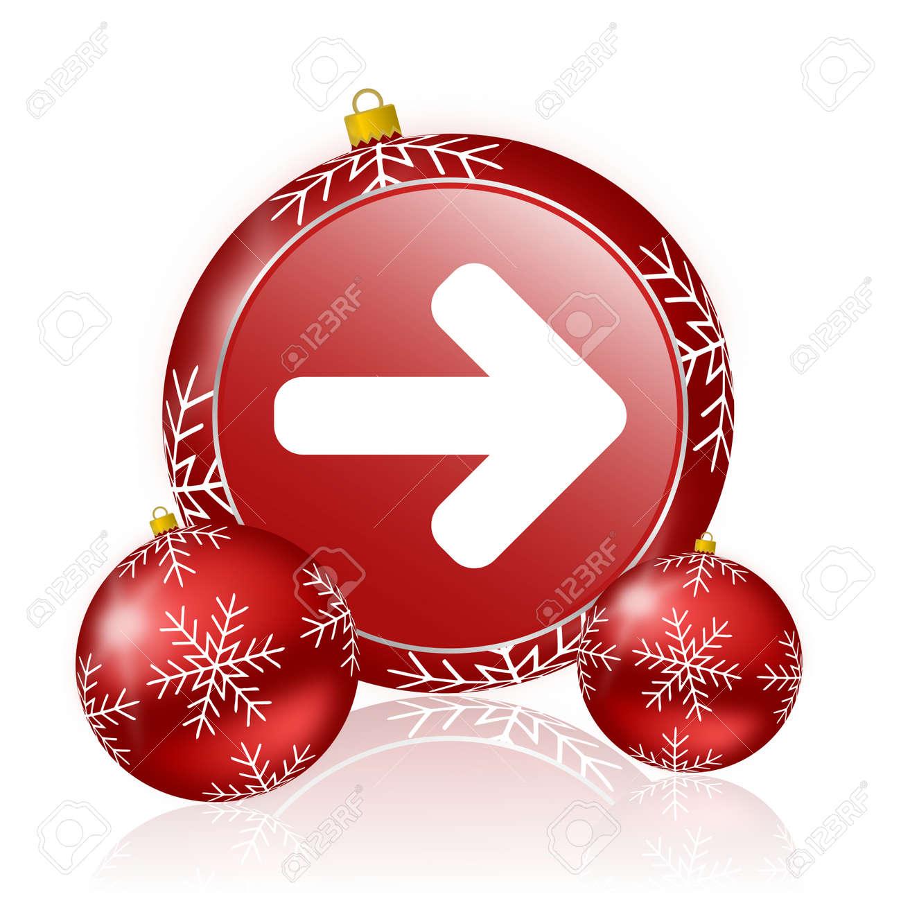 Christmas Arrow.Right Arrow Christmas Icon