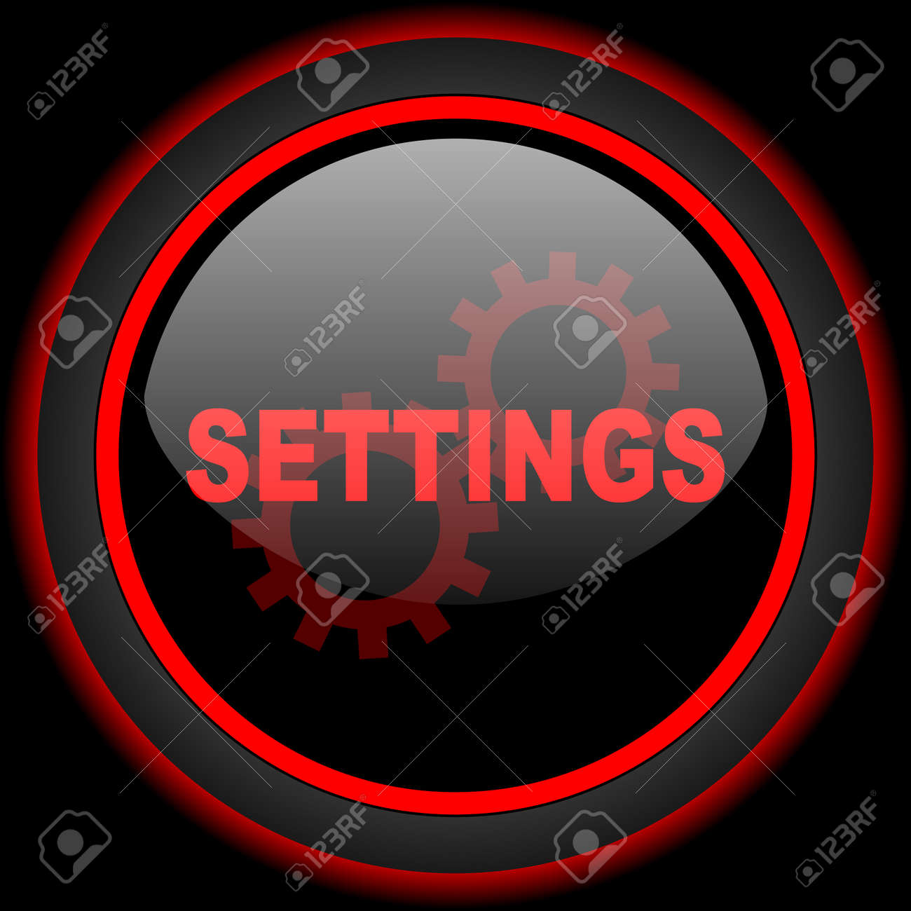 Settings Black And Red Glossy Internet Icon On Black Background Stock Photo Picture And Royalty Free Image Image 53462590