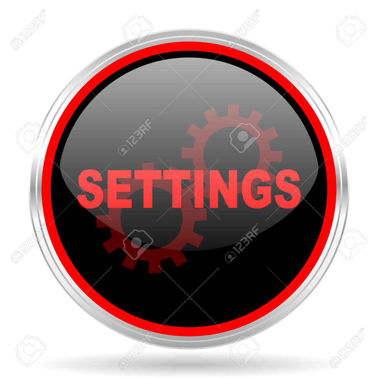 Settings Black And Red Metallic Modern Web Design Glossy Circle Stock Photo Picture And Royalty Free Image Image 54254909