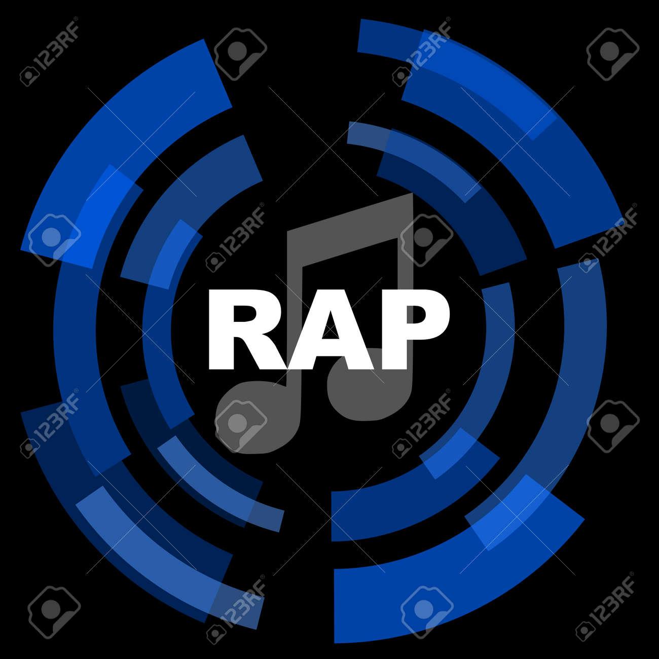 rap music black background simple web icon