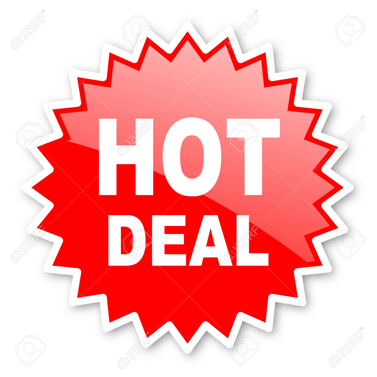Hot Deal Red Tag, Sticker, Label, Star, Stamp, Banner, Advertising ...