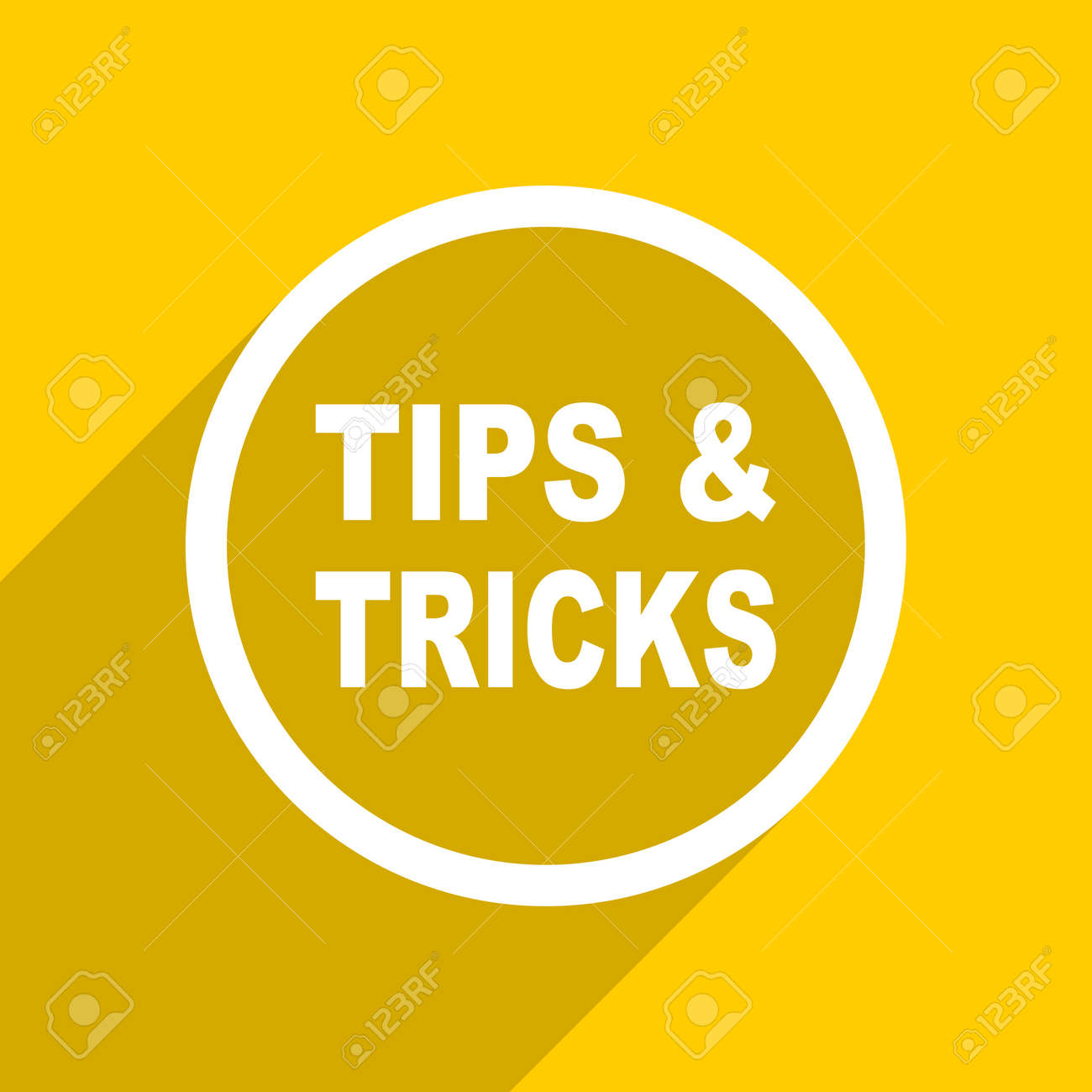 Yellow Flat Design Tips Tricks Web Modern Icon For Mobile App Stock Photo Picture And Royalty Free Image Image 56765648
