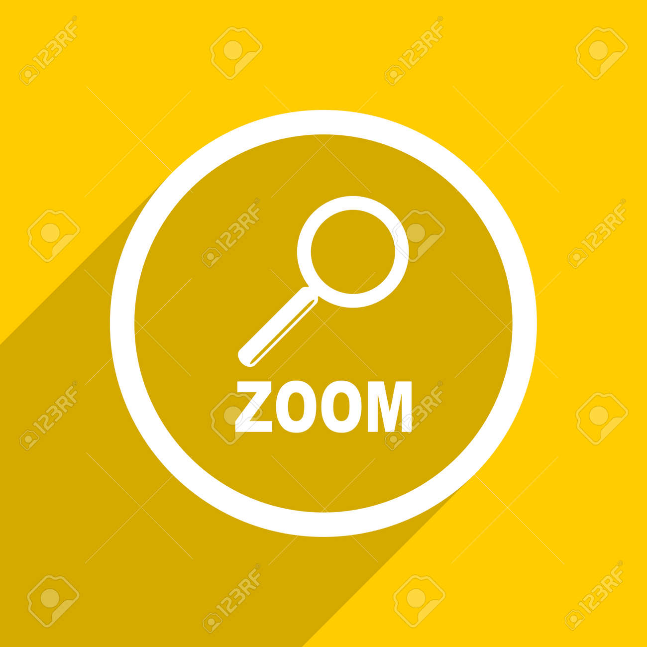 Yellow Flat Design Zoom Web Modern Icon For Mobile App And Internet Stock Photo Picture And Royalty Free Image Image 56767127 Free vector icons in svg, psd, png, eps and icon font. yellow flat design zoom web modern icon for mobile app and internet