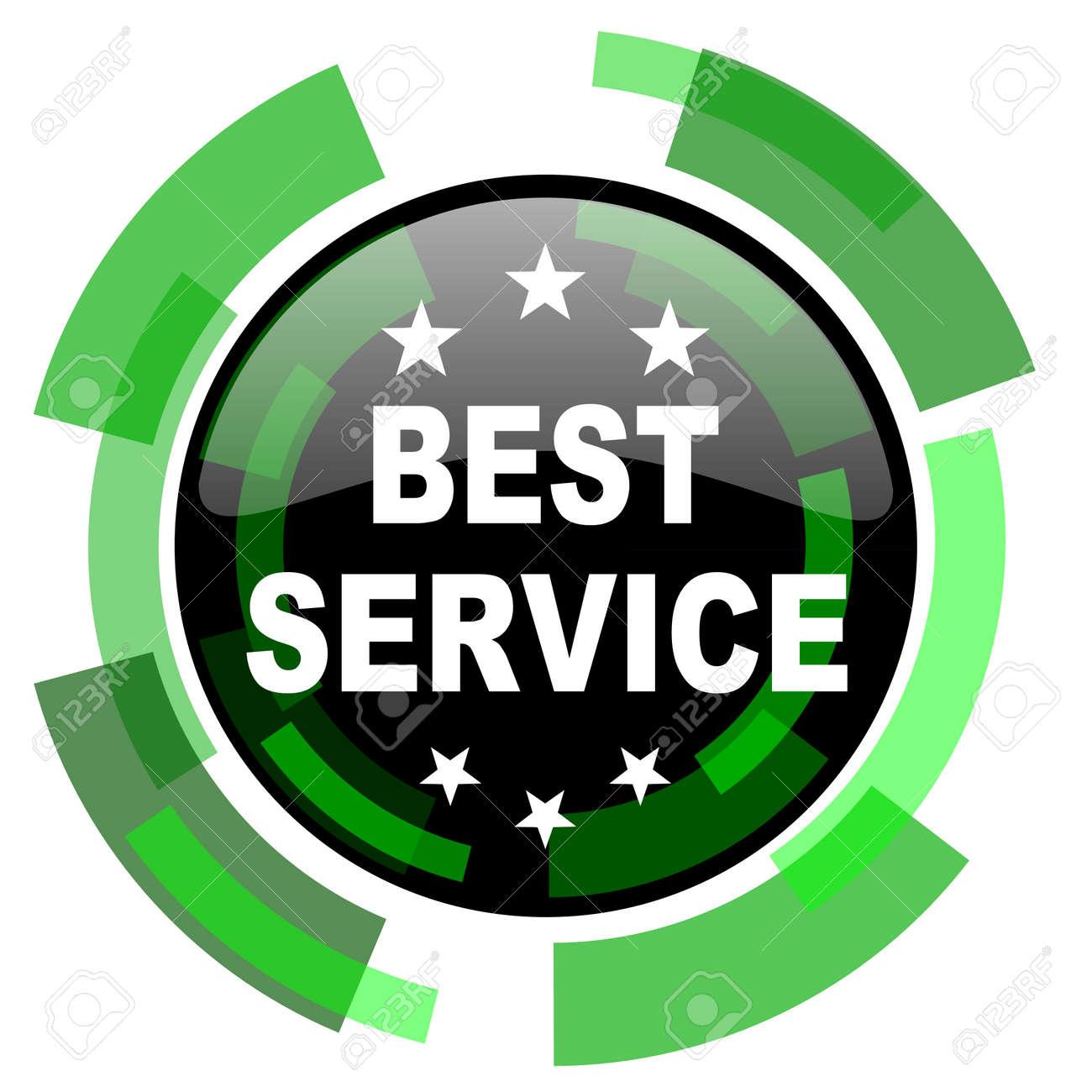 Beste Service-Symbol, Grün Modernes Design Glänzend Runde Taste, Web ...