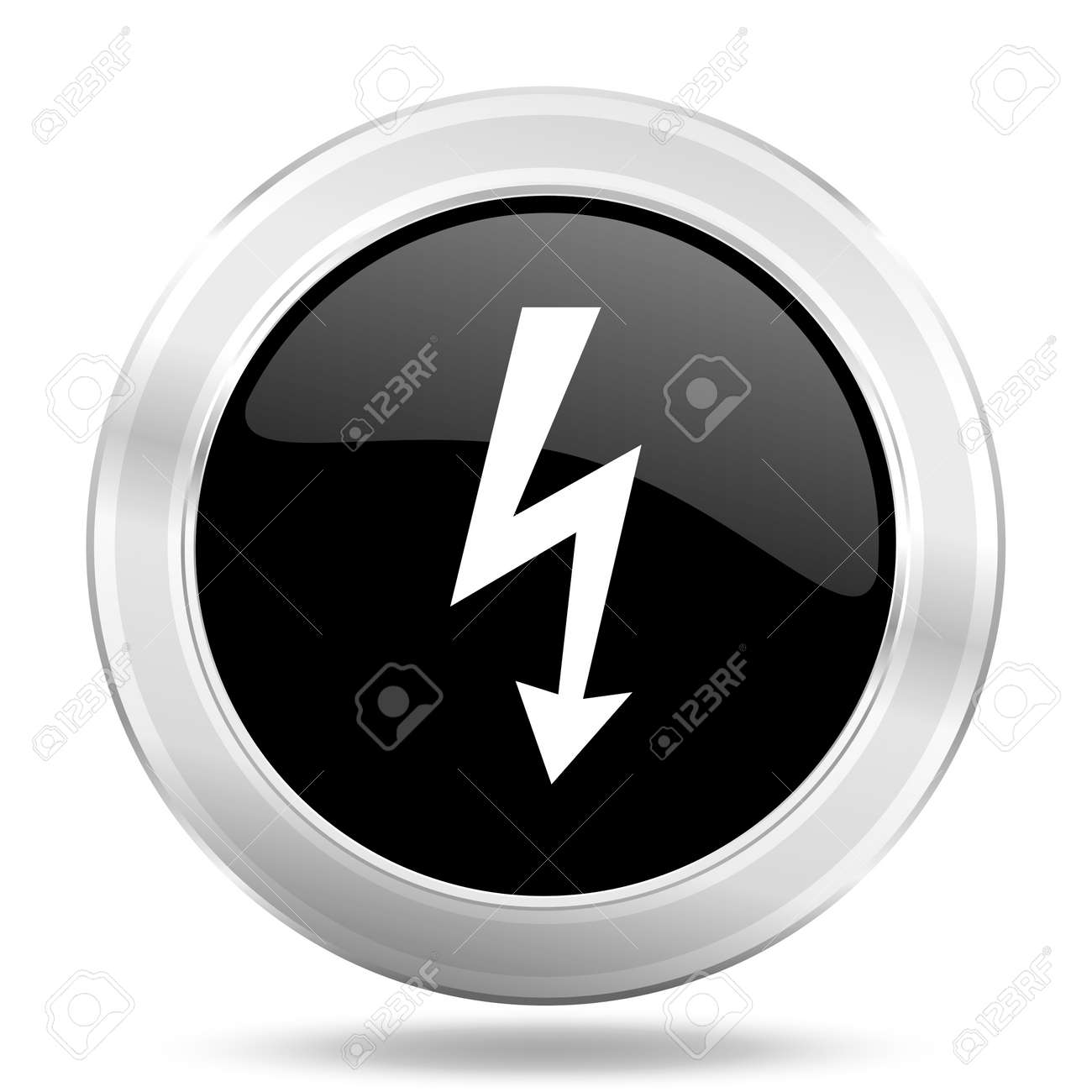 Bolt Black Icon Metallic Design Internet Button Web And Mobile Stock Photo Picture And Royalty Free Image Image 58725658