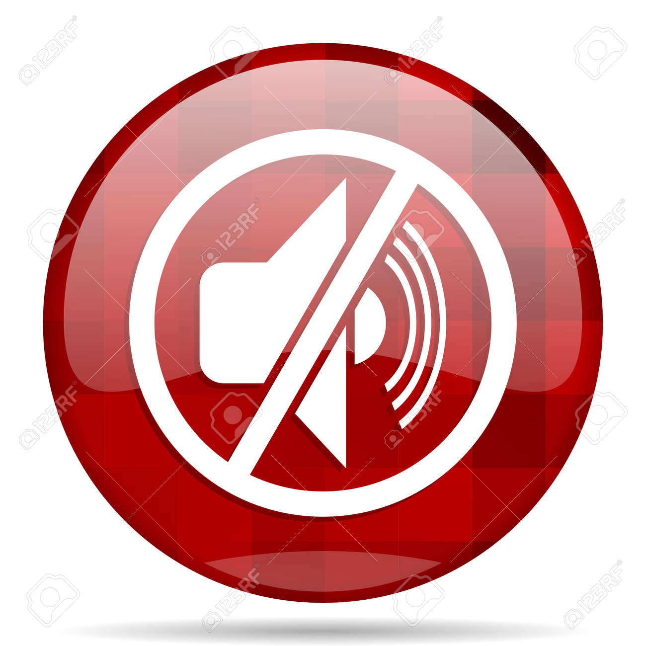 Phone Mute Icon Round Wiring Diagrams 220v3gozonegeneratorozonetubecircuitboard3ghrforwaterplant Red Glossy Modern Design Web Stock Photo Picture Rh 123rf Com Email