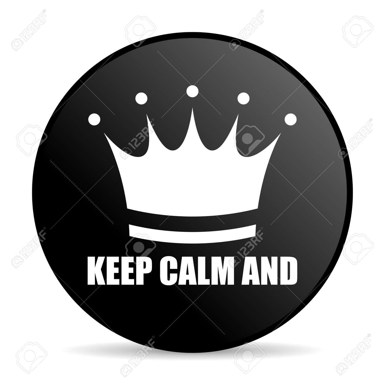 Halten Sie Ruhe Und Schwarze Farbe Web-Design Runde Internet-Symbol ...