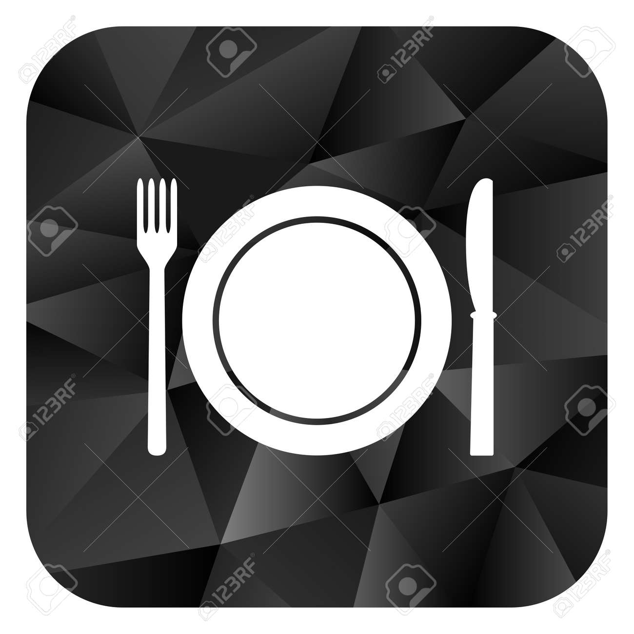 Restaurant Black Color Web Modern Brillant Design Square Internet Stock Photo Picture And Royalty Free Image Image 75892243