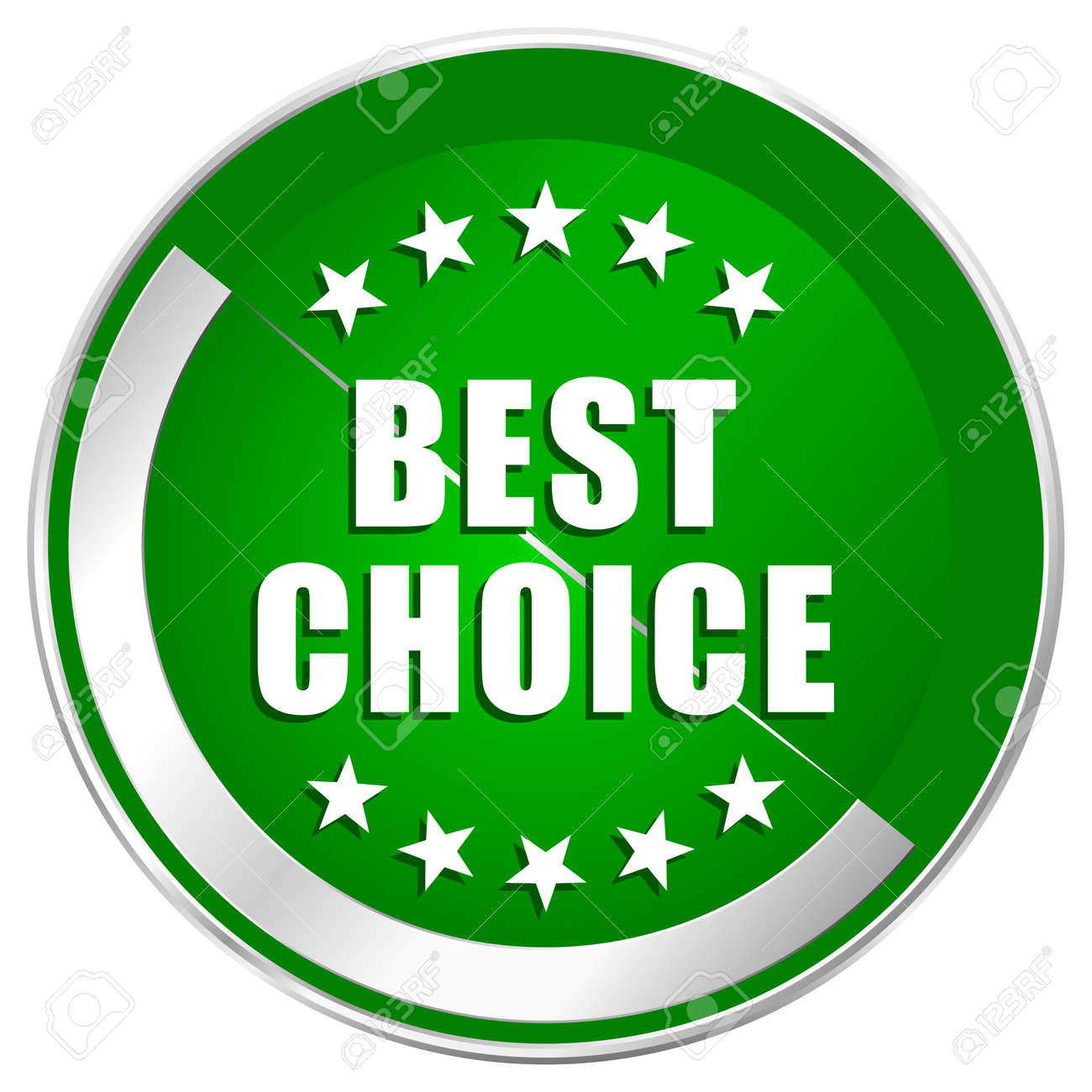 Best choice silver metallic border green web icon for mobile apps and  internet. Stock Photo 266d5c0d6