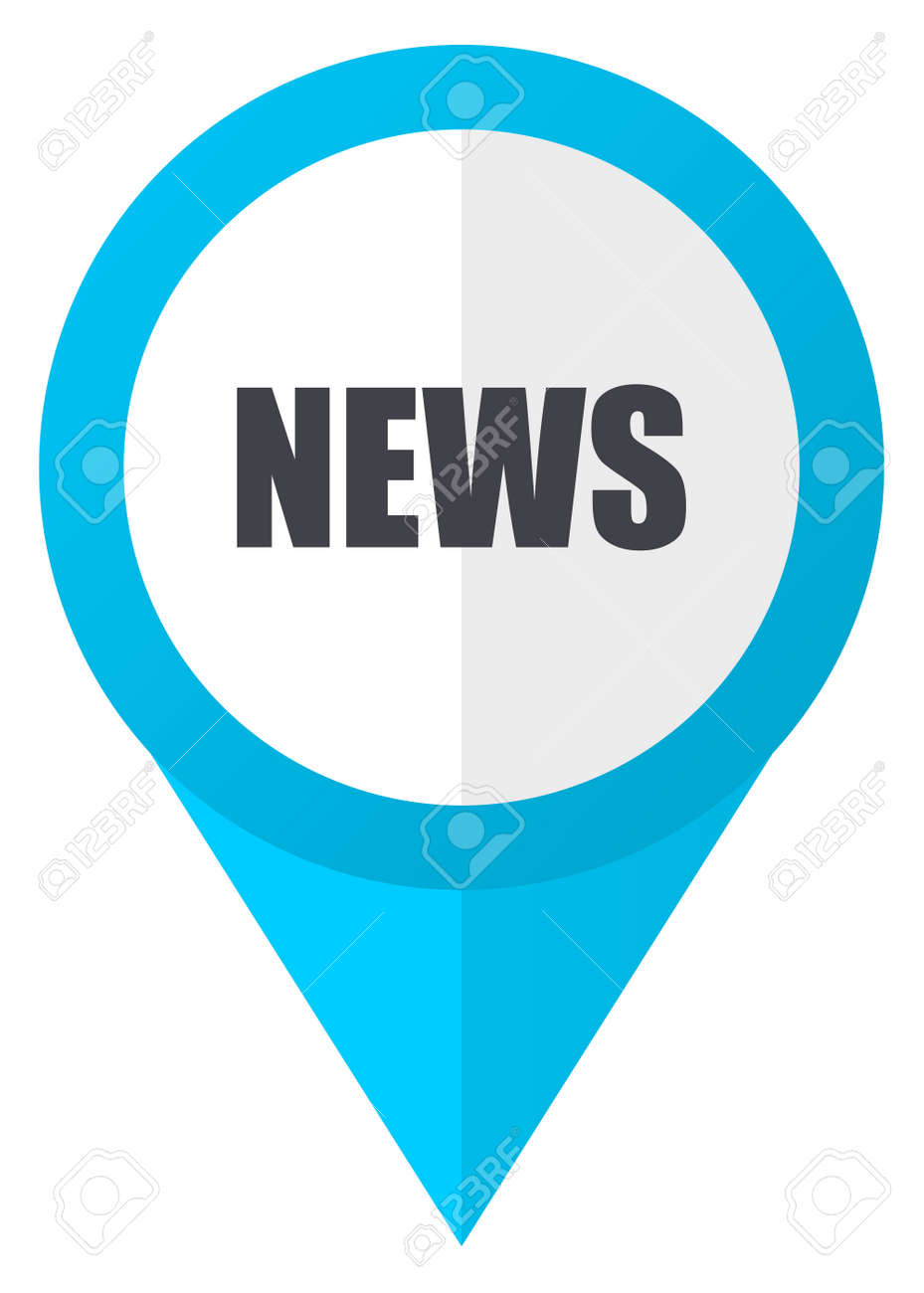 News Blue Pointer Icon Stock Photo, Picture And Royalty Free Image ...