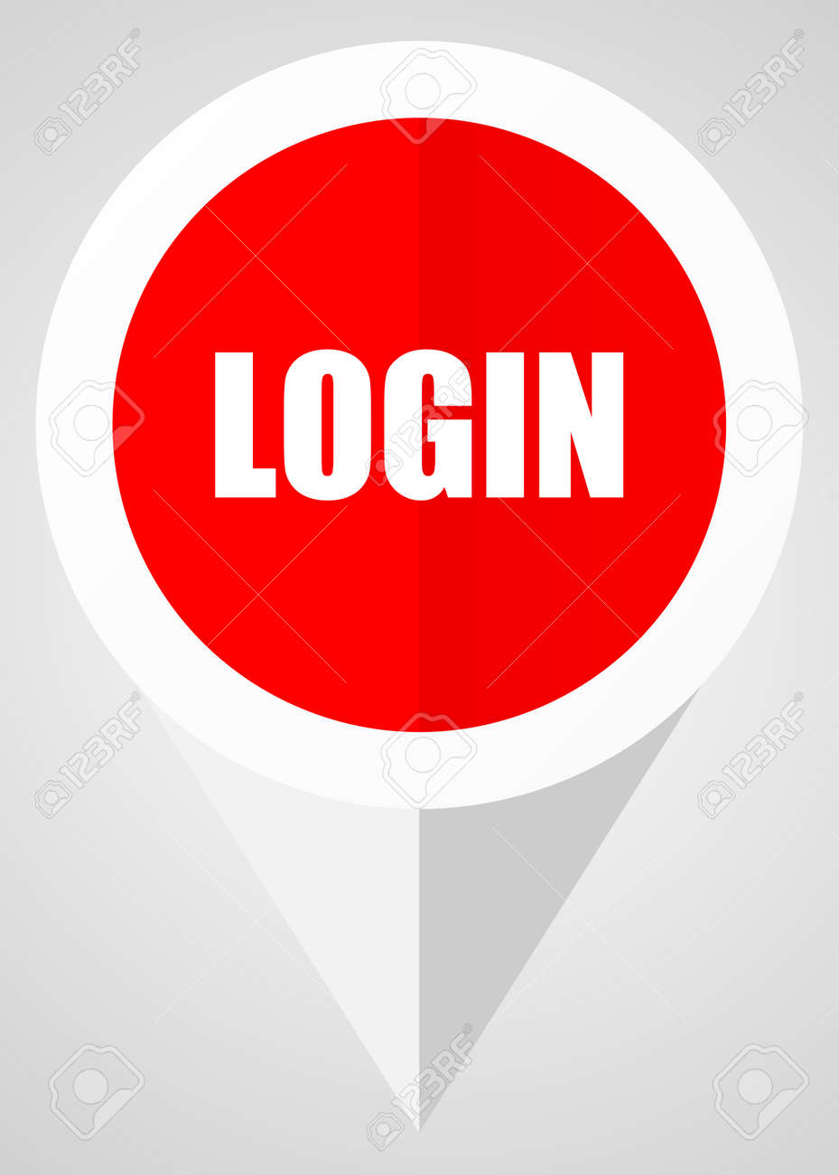 login vector icon white and red web pointer in eps 10 for webdesign rh 123rf com RedVector CBRE RedVector Courses Online