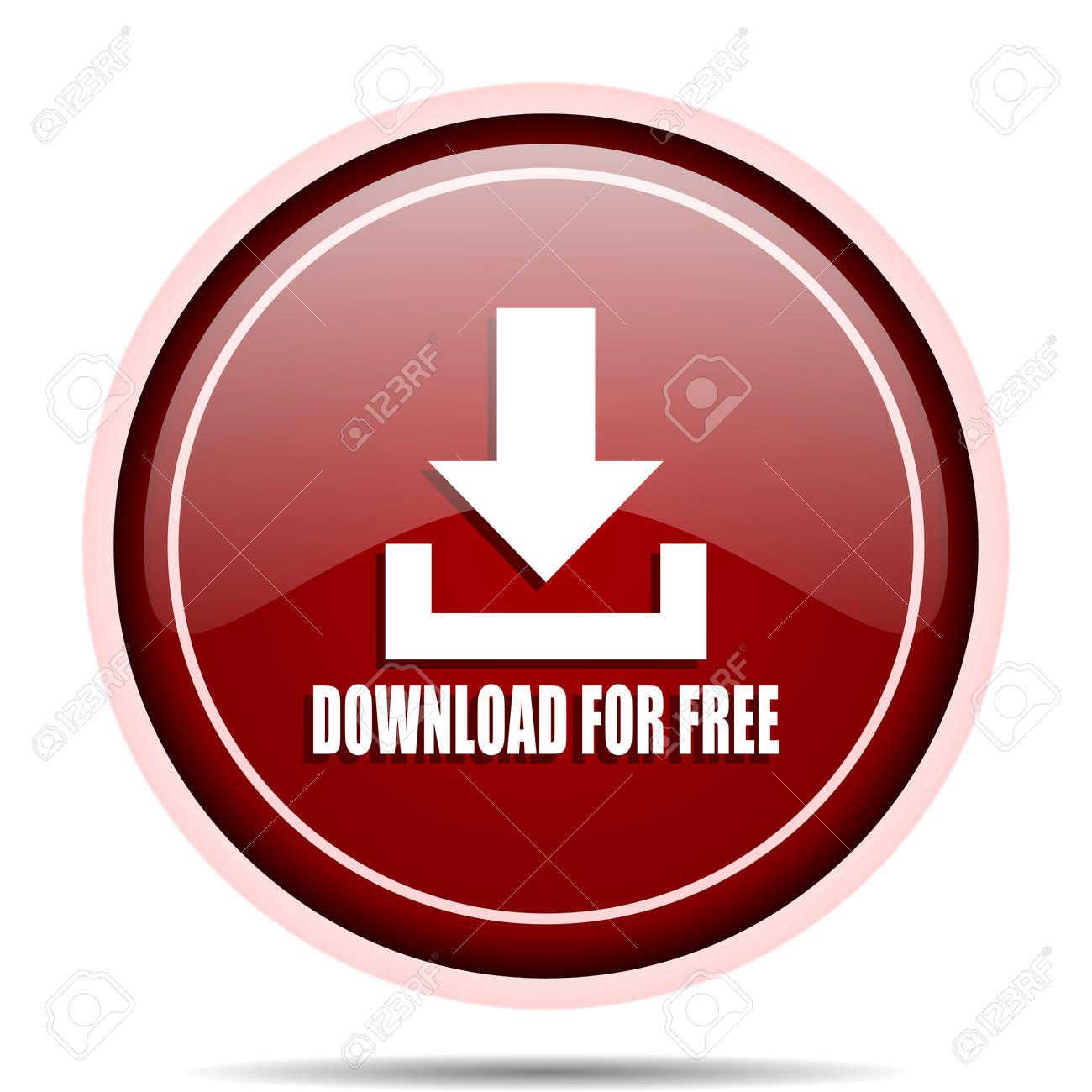 07c453f406ca1 Descarga gratis el icono web redondo brillante rojo. Círculo aislado botón  de internet para aplicaciones