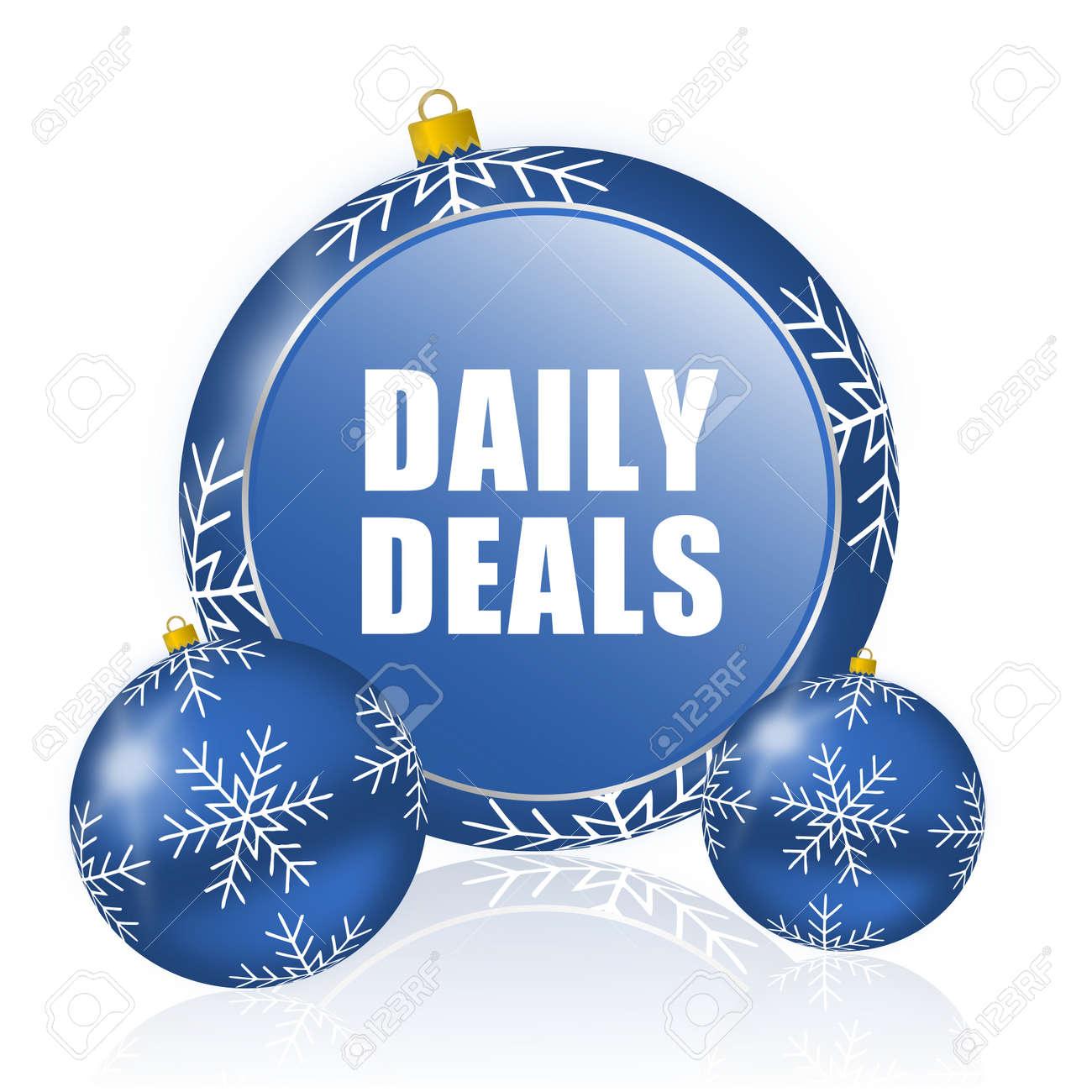 Tägliche Abmachung Blaue Weihnachtsballikone Lizenzfreie Fotos ...