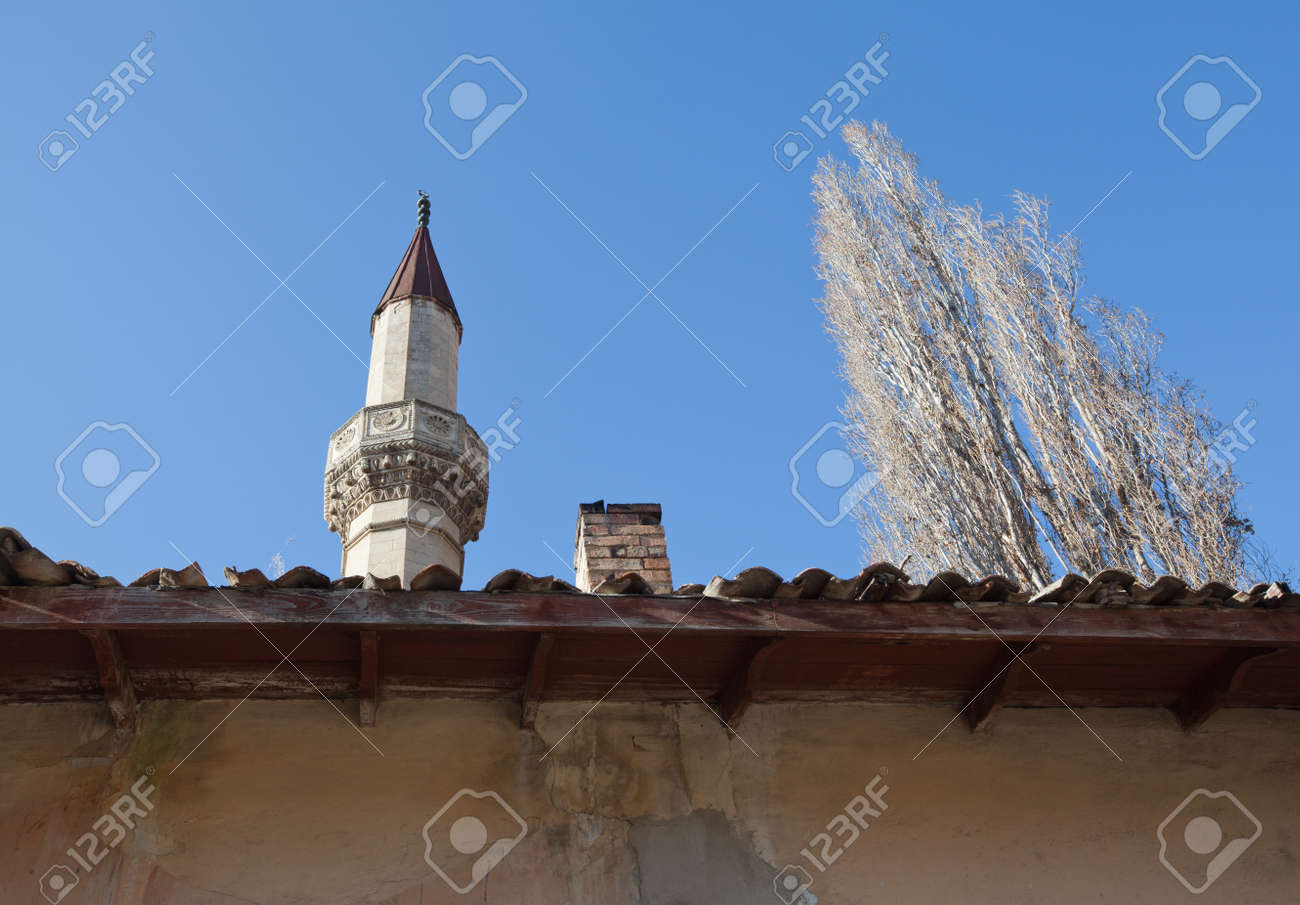 Bakhchisaray, Ukraine - January 04, 2012. Museum 'Residency of Crimean Khan'. Mosque. Muslim architecture Stock Photo - 12025744