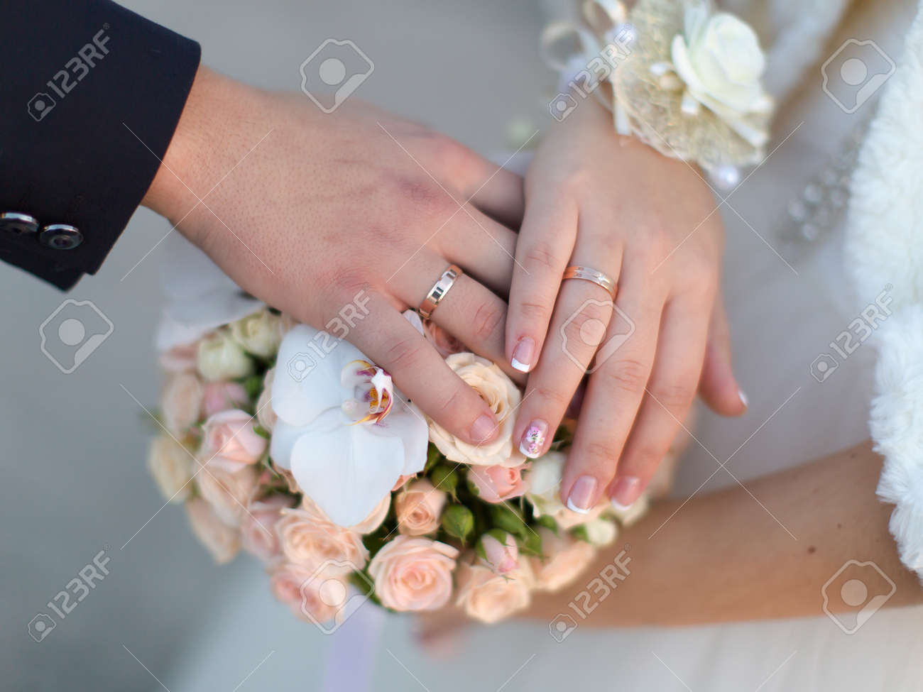Wedding Hands Hands Of Newly Wedded In Time Of Wedding Ceremony ...