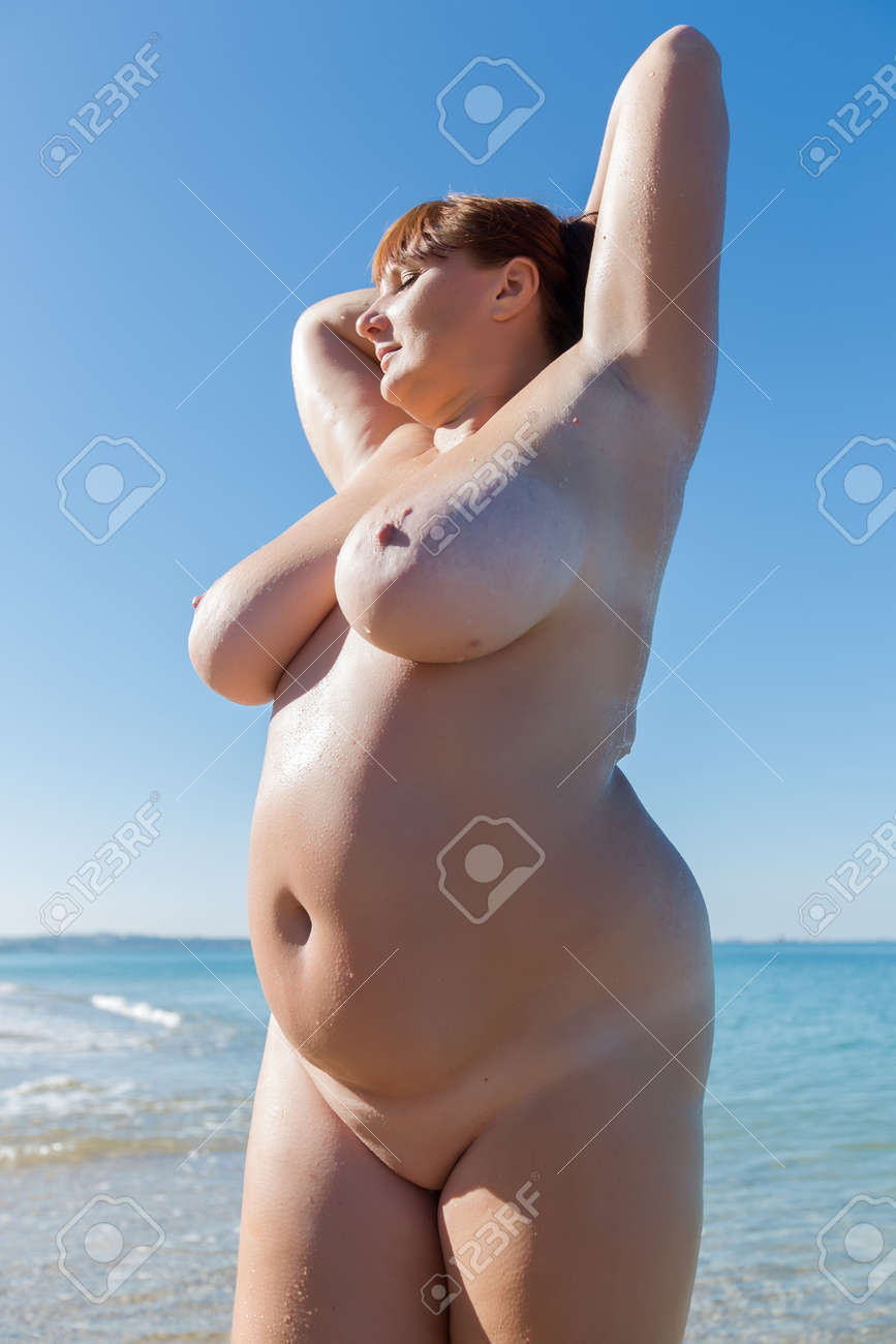 Nudist overweight woman