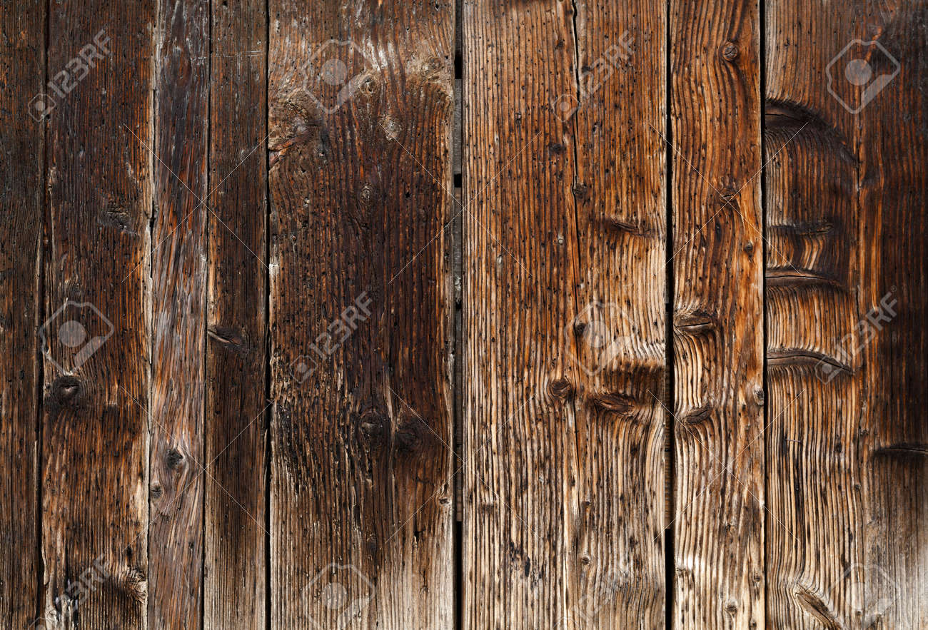 Old Dark Wood Texture Wooden Panel Background Stock Photo