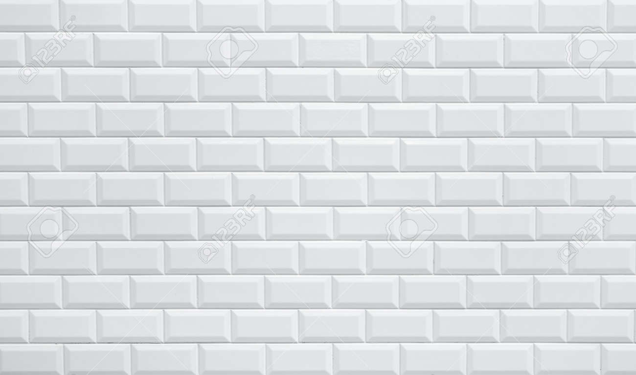 White Ceramic Brick Tile Wall Background Seamless Wall Pattern Stock ...