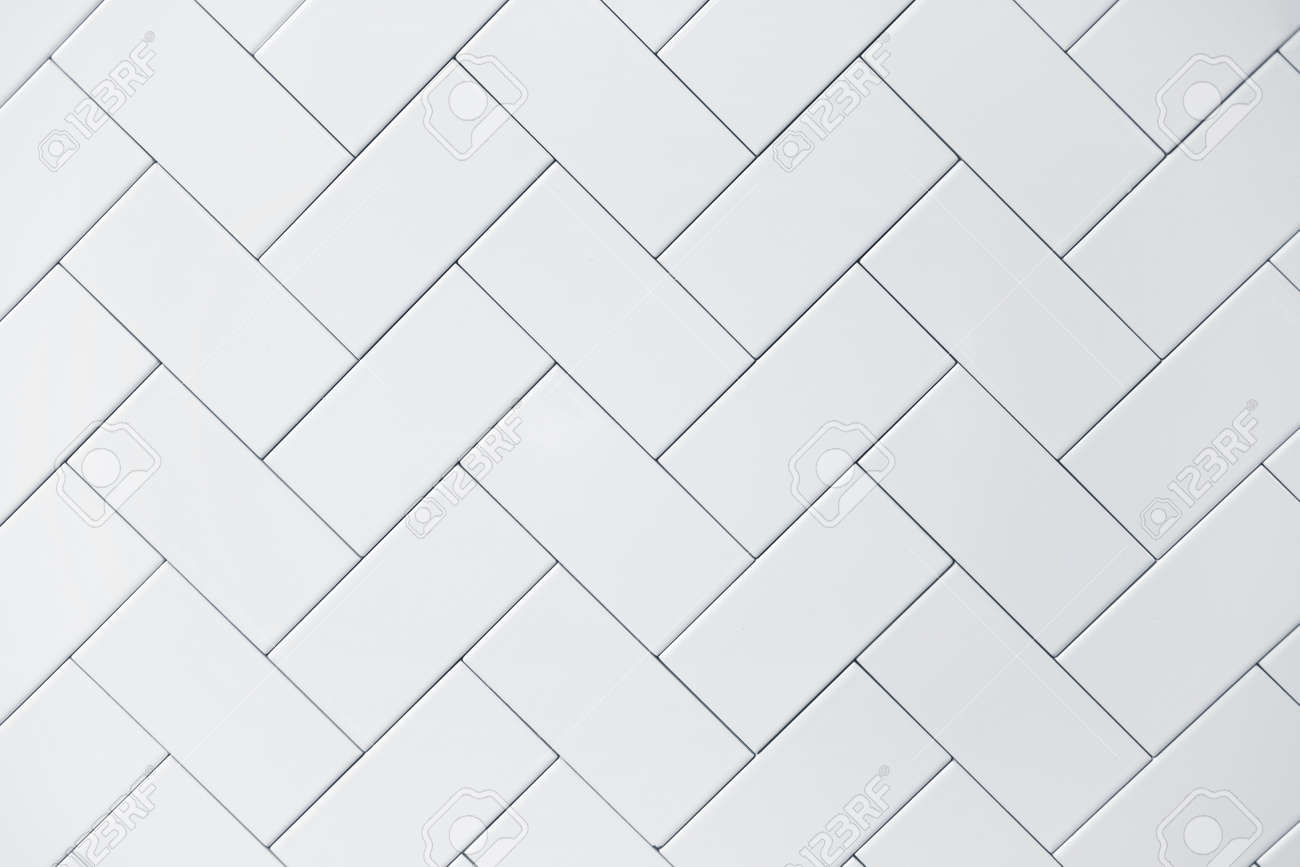 White Ceramic Brick Tile Wall Background Stock Photo, Picture And ...
