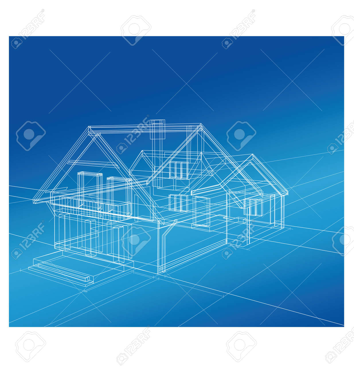 Plan a country house on a colored background - 12480609