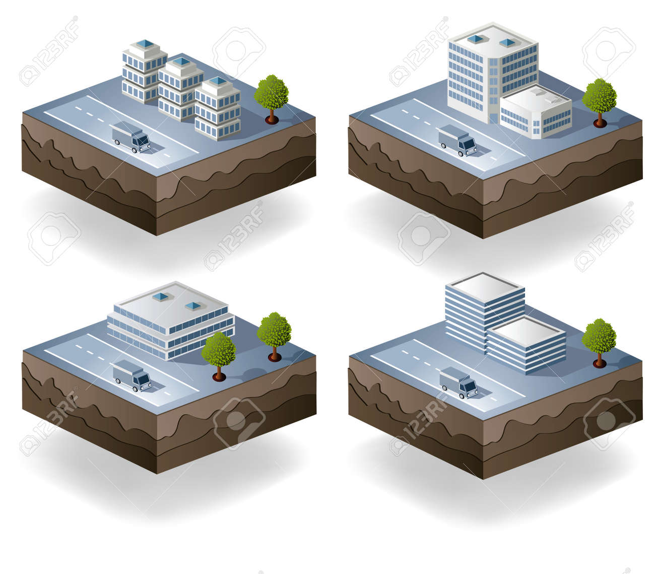 Set of vector icons isometric to the city theme Stock Vector - 12481453