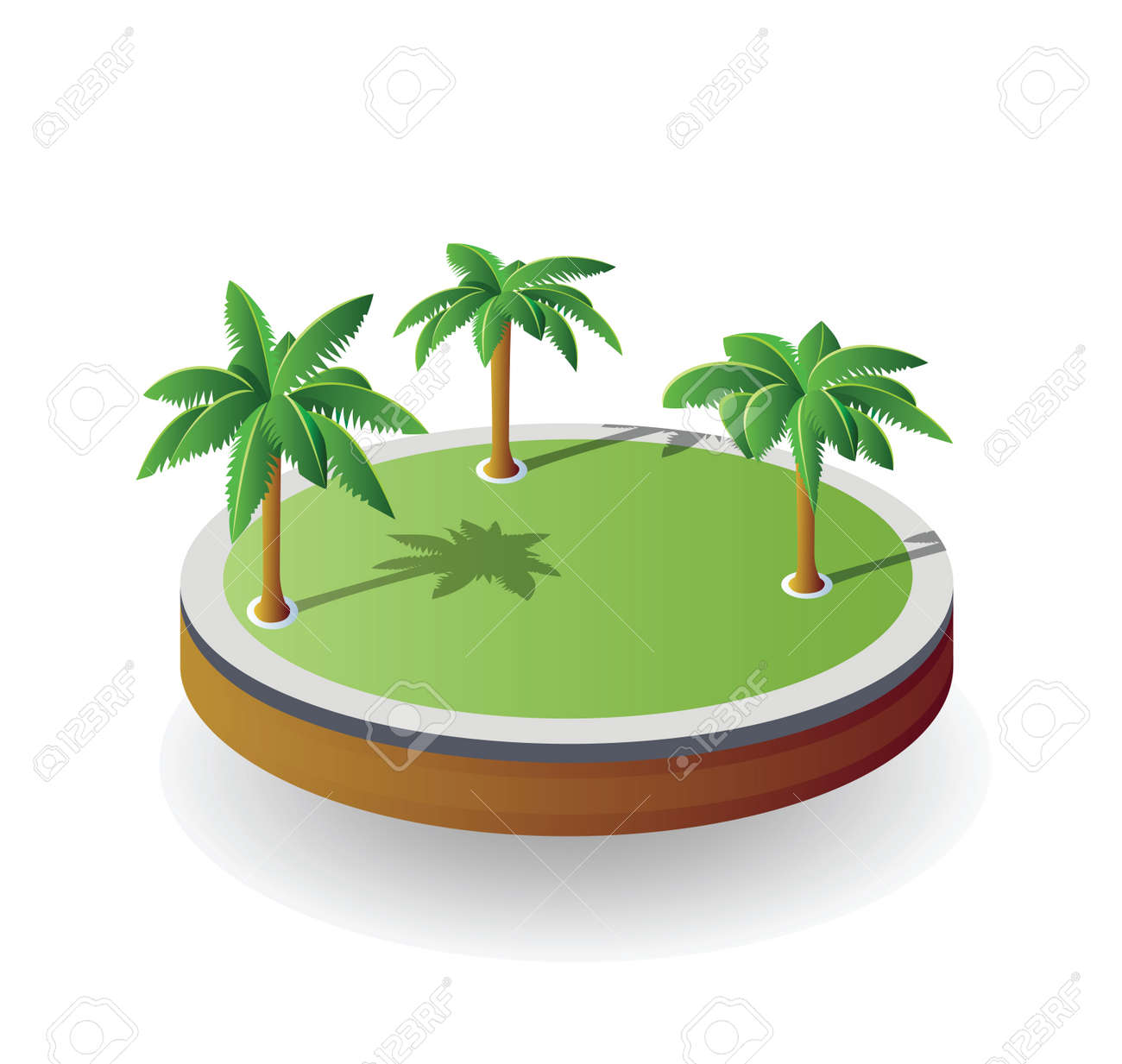 Isometric island on a white background Stock Vector - 18729067