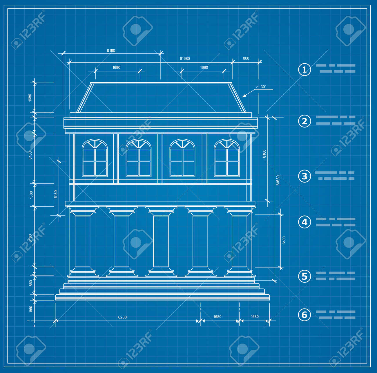 Blueprint facility and engineering printout home royalty free blueprint facility and engineering printout home stock vector 35600087 malvernweather Choice Image