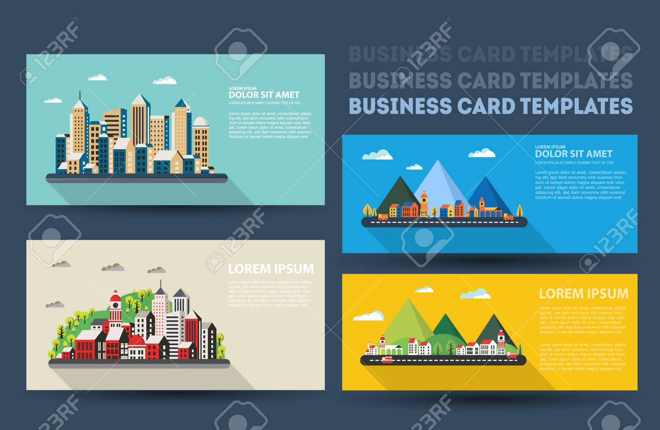 Real estate business card set template business cards for real real estate business card set template business cards for real estate agents and travel agencies cheaphphosting Gallery