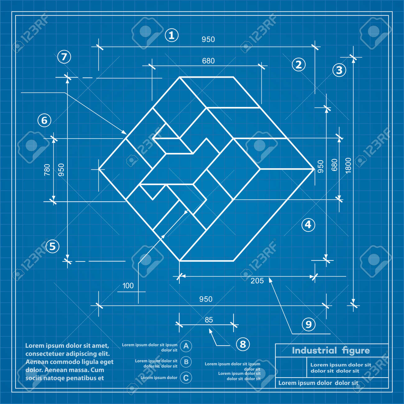 Industrial construction drawing production figures blueprint industrial construction drawing production figures blueprint background image stock vector 59888492 malvernweather Gallery