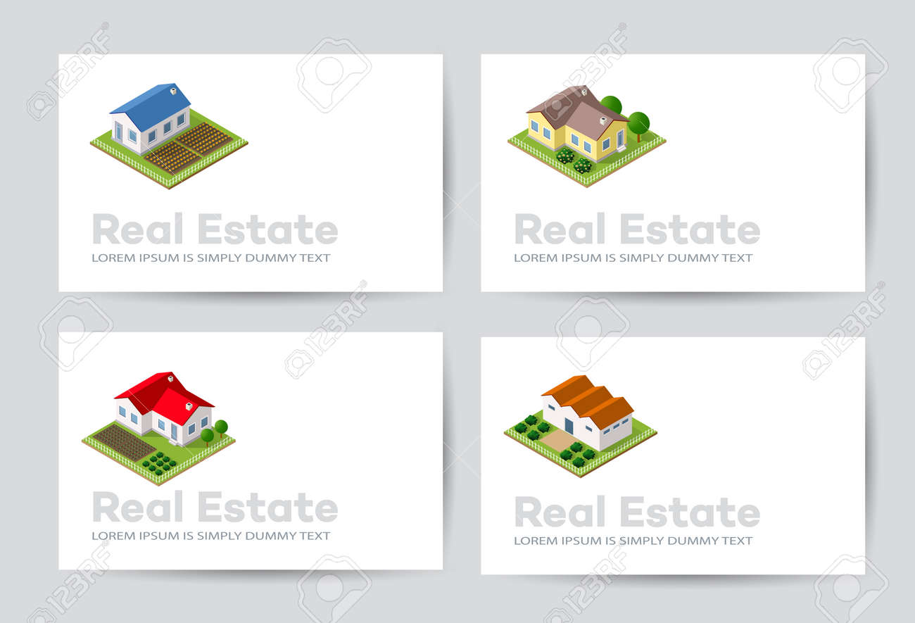 Templates of business cards for real estate agencies city portals templates of business cards for real estate agencies city portals construction firms and design reheart Choice Image