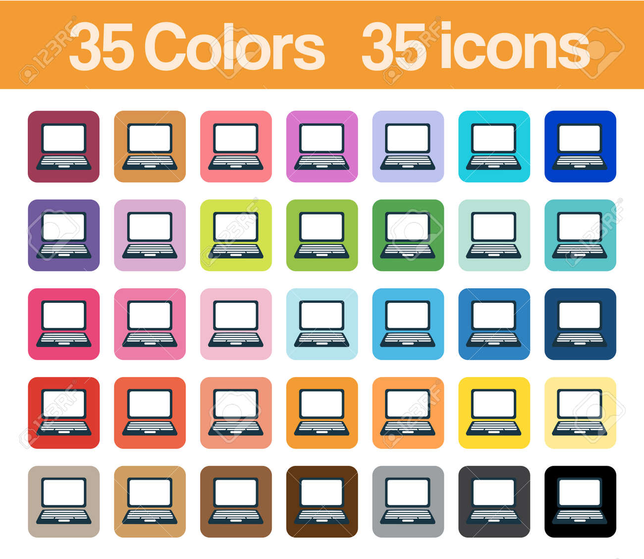 Personal Computer printable icons for graphics planner sticker