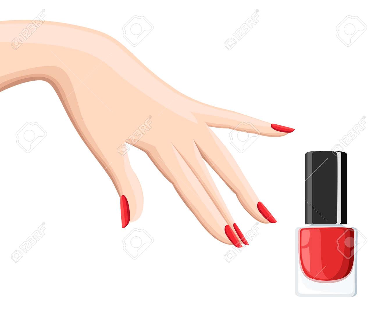 Manicure Design Set. Colorful Texture For Nail Salon Set Of Colored ...