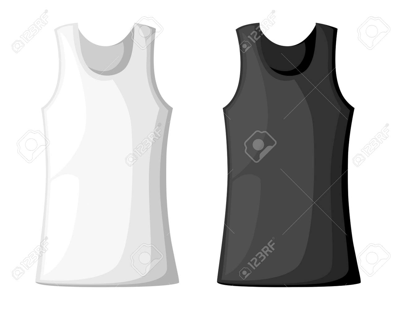 Vector Illustration With Realistic Male Shirt Template Womans
