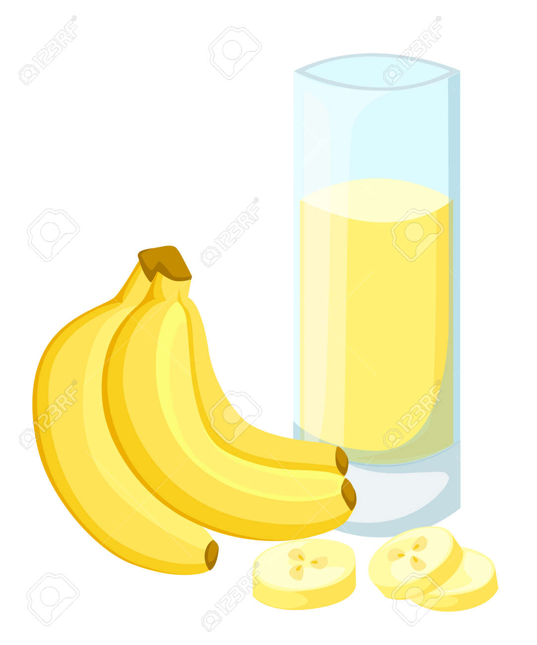 design template banner poster icons banana smoothies illustration