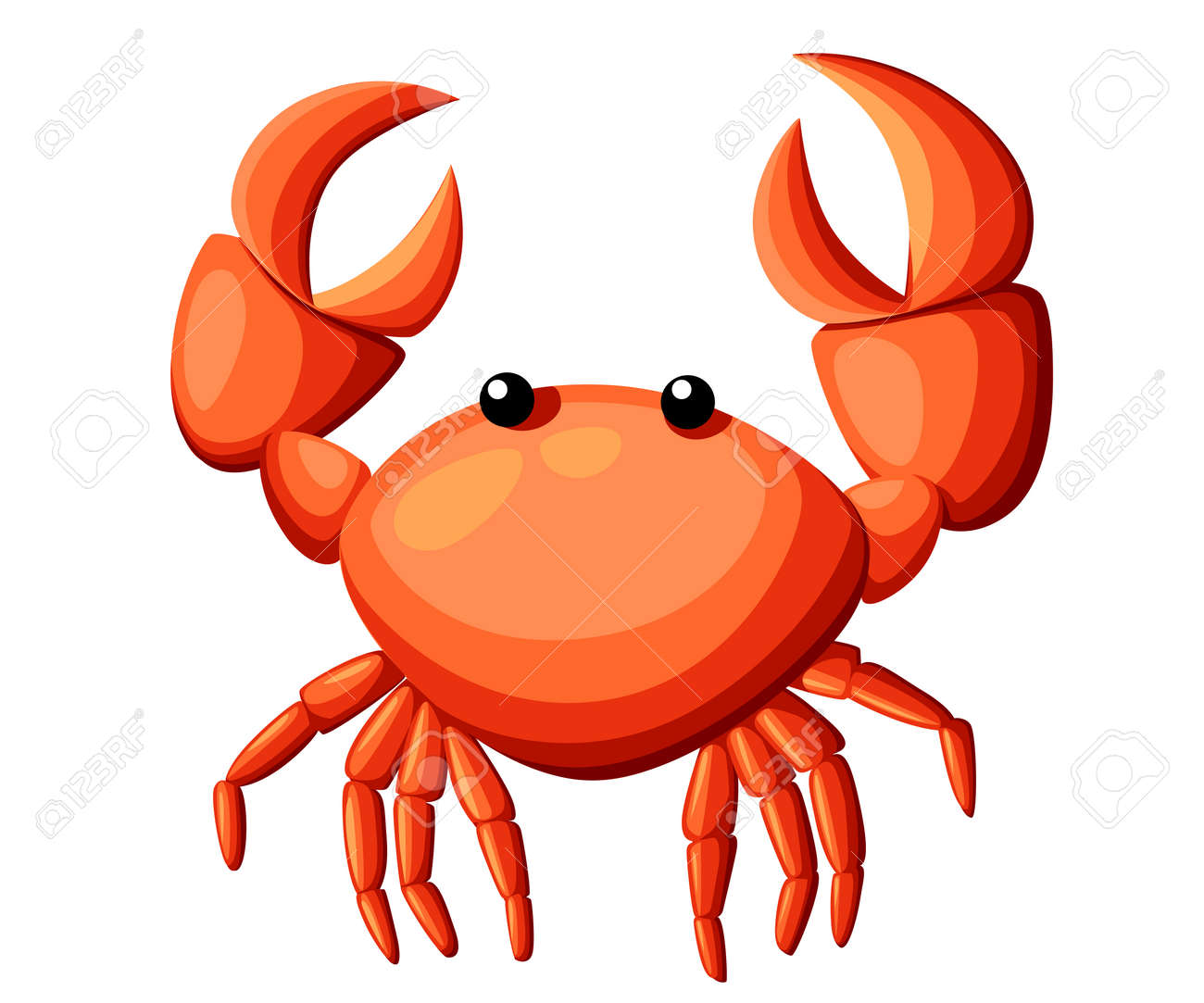 colorful red crab vector illustration sea creature in flat design rh 123rf com crab vector logo crab vector art free